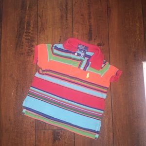 SALE!Baby boy Striped Shirt Sleeve Polo Shirt 9mos